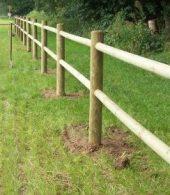 cloture pour chevaux bois